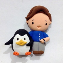 Ben with penguin